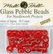 Mill Hill Glass Pebble Beads 5.5mm