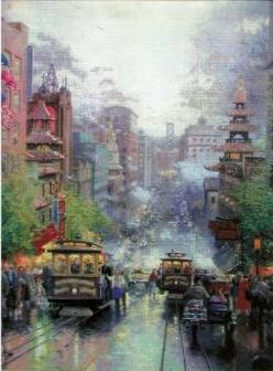 Thomas Kinkade San Francisco Embellished Cross Stitch Kit - набор для вышивки крестом Candamar Designs
