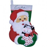 Design Works Crafts Santa & Kitten 5096
