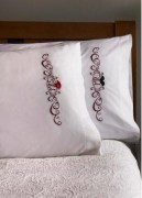 Stamped Embroidery Pillowcase Pair 45765 Bucilla