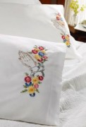 Stamped Embroidery Pillowcase Pair 45176 Bucilla