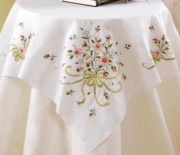Stamped Cross Stitch Table Topper 45179 Bucilla