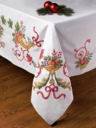 Stamped Cross Stitch Tablecloth 86193 Bucilla